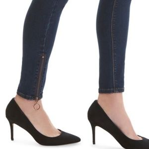 LALA Anthony Mid Rise Skinny Jeans Side Zipper